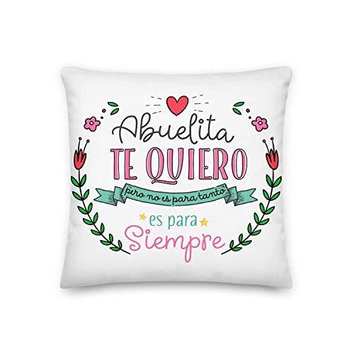 Kembilove Almohada para Abuela – Cojines para Abuelas – Regalos Originales para Abuelas – Cojín con Mensaje Abuelita Te Quiero – La Mejor Sorpresa para tu Abuela