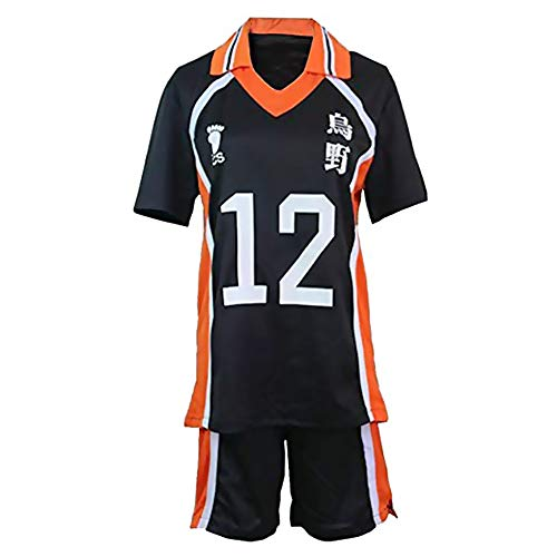 Zoyie Haikyuu Trikot Karasuno High School Volleyball Cosplay Club Trikot und Shorts TeamTeenager Cos Sportswear Trainingsanzug für Erwachsene Jungen