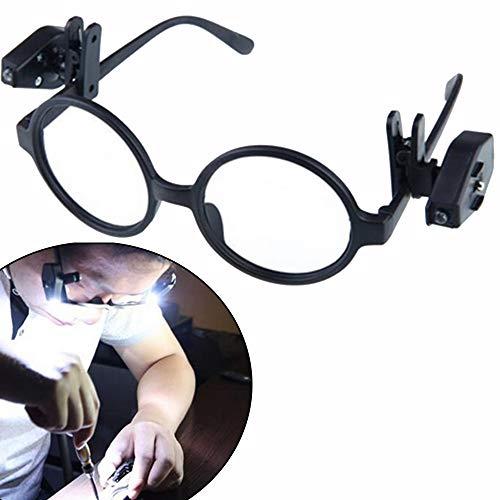 HGDD Lámpara de Piso Mini portátil de la Noche de la Lectura Lights LED de la Lente Flexible del Clip en la luz Ajustable Libro for Gafas, reparación de Herramientas
