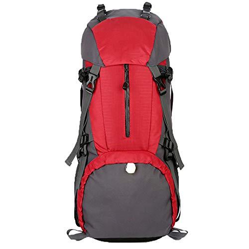 LILINA Senderismo Bolsa de Viaje de Mochila al Aire Libre Impermeable y de Tela portátil de descompresión de Tela, fácil de Llevar, le Permite IR fácil Viaje para Acampar,Rojo