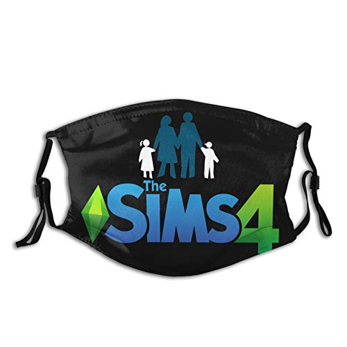 The Sims 4 Face Mask My Sims Family Needs Me Plumbob Washable Reusable with 2 Filters for Adults Women Men