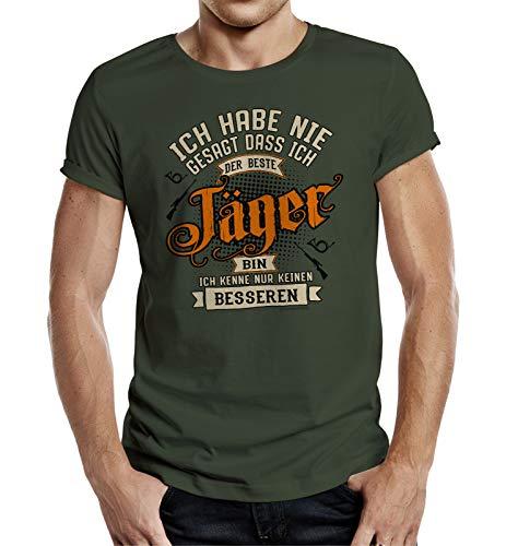 Geschenk T-Shirt für Jäger - Ich Habe nie gesagt DASS ich der Beste Jäger Bin M Nr.6390