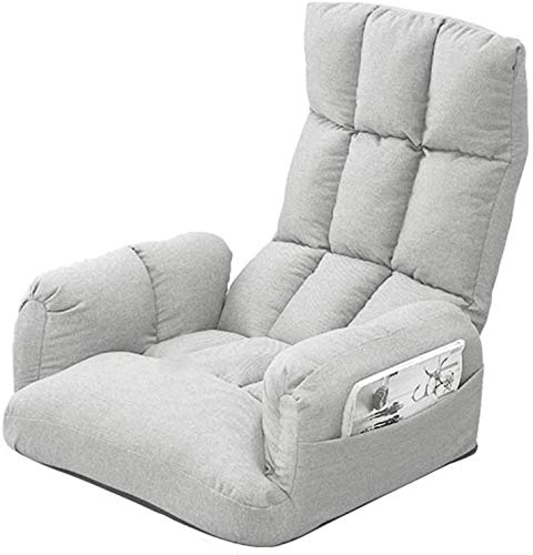 Mopoq Lazy Silla Baja Salón con sofá Lateral Bolsa de Almacenamiento Plegable...