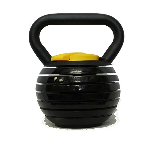 Kettlebell Kings | Black Adjustable Kettlebell...