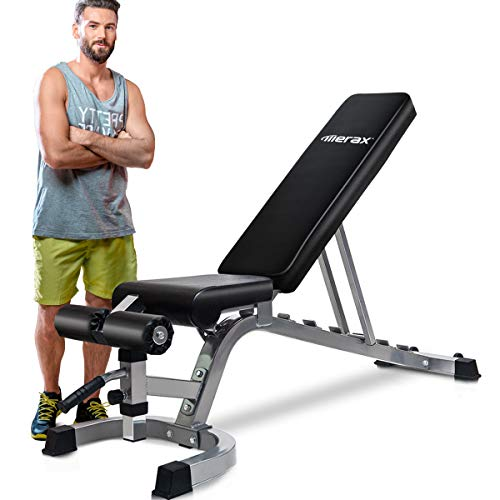 Merax Deluxe Foldable Utility Sit-Up Ab Incline Bench