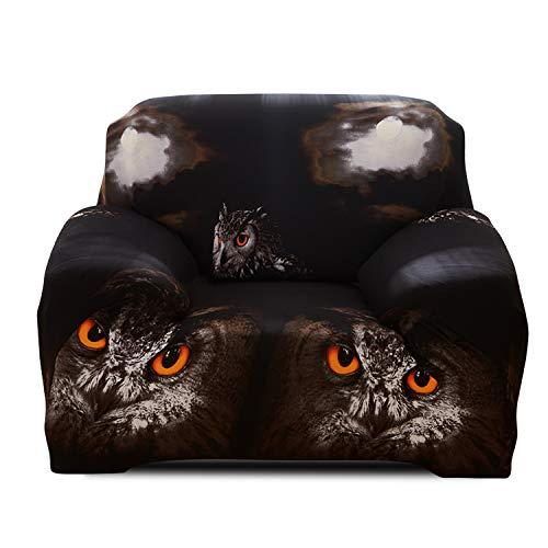 Fashion·LIFE Housse de canapé Imprimée Revêtement de Canapé élastique Couverture de Canapé Meubles Protecteur,Hibou 2 Places