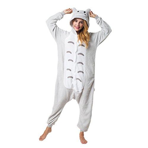 Katara 1744 - Katze Kostüm-Anzug Onesie/Jumpsuit Einteiler Body für Erwachsene Damen Herren als Pyjama oder Schlafanzug Unisex - viele Verschiedene Tiere