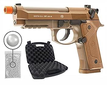 Beretta M9A3 CO2 Blowback Auto/Semi BB Airsoft Pistol Gun with Hard Case and Wearable4U Plastic BBS Bundle
