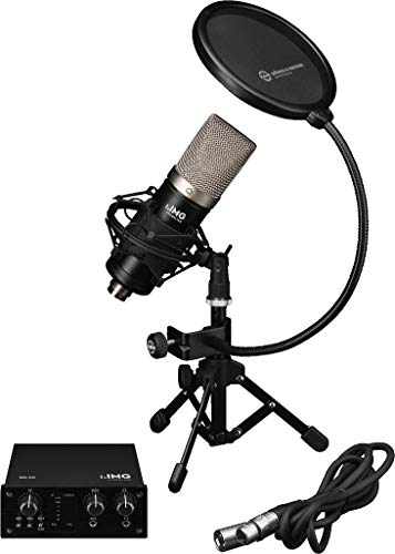 IMG Stageline PODCASTER-1 Recording-bundel voor podcasters in zwart