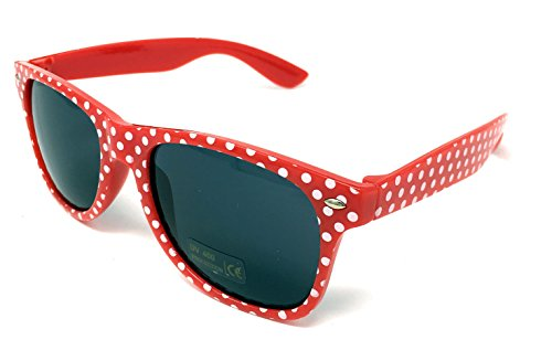Panelize® Polka-Dot Rockabilly Brille Sonnenbrille Accessoires rot weiß gepunktet 50er Jahre Retro Design