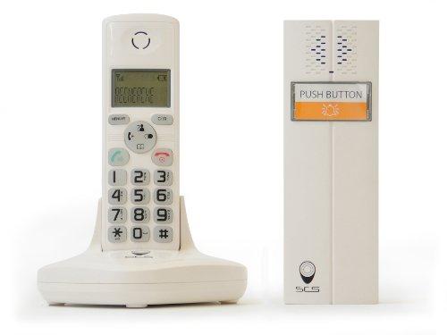 SCS SEN4139507 Gegensprechanlage ohne Kabel, Dect-technologie, 50 m, weiß