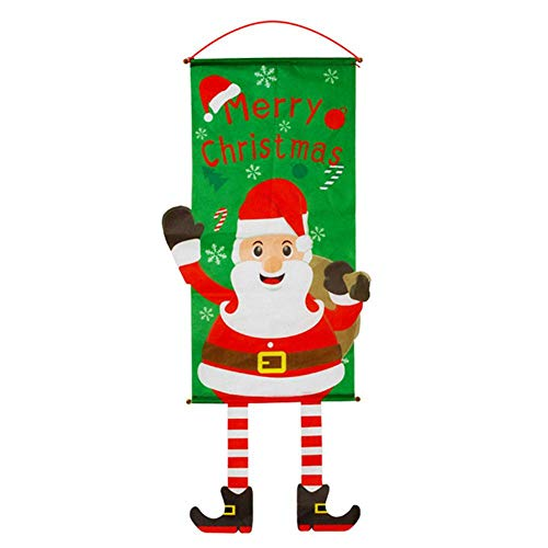 Weihnachtstuch Zum Aufhängen | Kranz Weihnachtsmann Weihnachtsentwurf | Traditionelle Weihnachtsdekoration Thema | Perfekt Für Zu Hause Oder Im Büro Maßnahmen 32