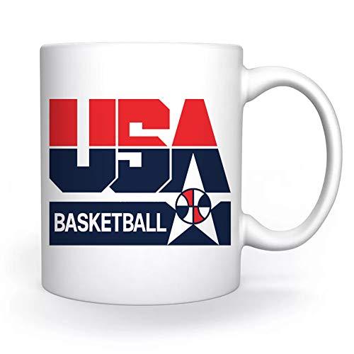 Usa 1992 Basketball America Dream Team Taza Blanco Para el Café Té Capuchino Cacao Mug Coffee Tea Cappuccino