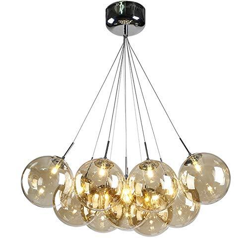 Lampadario a sfera in vetro a LED Lampadario moderno minimalista con sospensione a forma di bolla ristorante personalità creativa camera da letto Lampadario in stile nordico