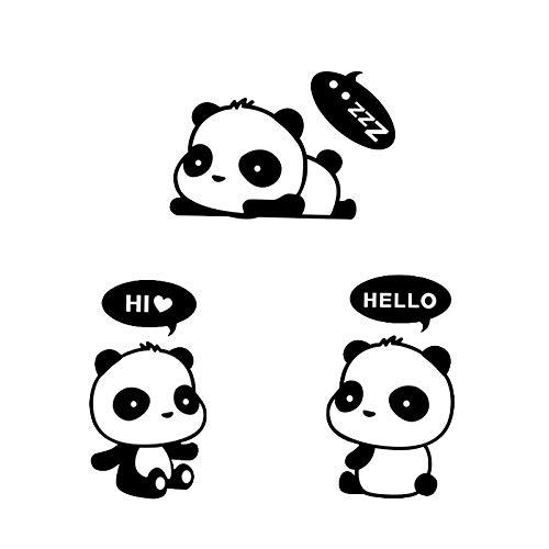 Dibujos animados lindo bebé panda animal discurso burbuja interruptor pegatina pared Sitkcer vinilo coche calcomanía niño niños guardería dormitorio sala de estar decoración del hogar mural