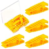 20 Pieces Automobile Fuse Pullers Fuse Extraction Tools Car Fuse Fetch Clips Yellow Fuse Removal Tools Mini Plastic Fuse Pullers for Car Motorcycle Truck SUV Automotive Fuses Replacement