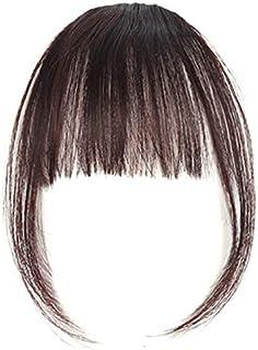 (TS.CORP)前髪ウィッグ超薄型 エクステ 超自然 もみあげ付きウィッグ (アメピン10本&付け方説明書付き)