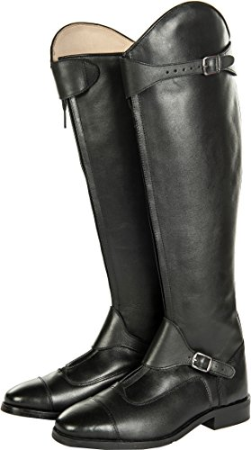 HKM Erwachsene Reitstiefel-Polo, Softleder, lang/schmale Weite9100 schwarz41 Hose, Schwarz-9100, 41