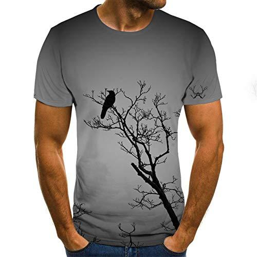 N /A Maglietta con Stampa 3D di Birra It's Time Letter Donna Uomo Divertente novità T-Shirt Top a Manica Corta Abbigliamento Unisex XL Gray