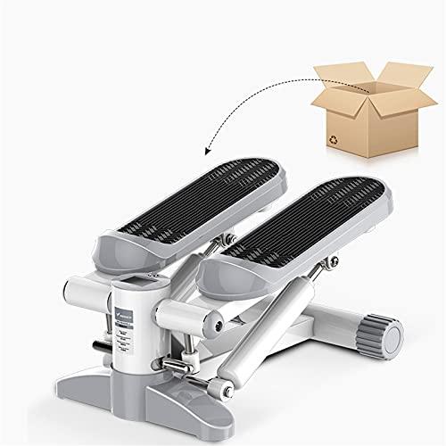 Lixiabeidai Fitness Hydraulic Stepper, Entrenador de Ejercicios cardiovasculares Paso a Paso para Hombres y Mujeres, máquinas de Entrenamiento elípticas con aplicación,Grey-Standard Edition