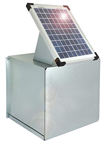 Eider inkl Watt Witterung und schränkt die Sichtbarkeit EIN Weidezaun Metall-Tragekasten inklusive 10 W Solarpanel für 12V-Weidezaungeräte-Verzinkt-Schützt