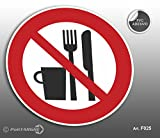 'Cartel Adhesivo de PVC Diámetro cm 12,5prohibido...