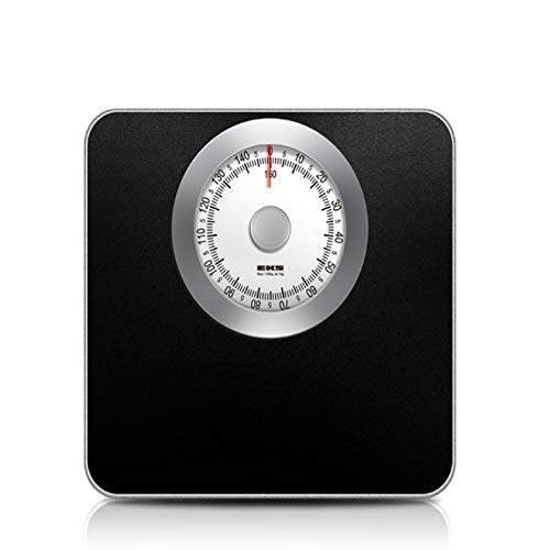YYZZ Body Weight Scale, 150kg Mechanical Bathroom Scale Floor Weight Body Scale Smart Human Weighing Spring Scale Stainless Steel Square