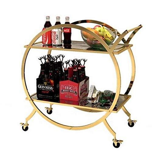 Find Discount Jolly Rolling Kitchen Trolley, Utility Storage Rack Rolling Cart Sturdy Serving Trolle...