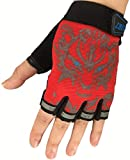 Eurhouse Kinder Trainingshandschuhe Fingerlose Kinder Handschuhe für Sport Fahrrad Laufen Anti-Rutsch-Fäustlinge, Jungen, rot, Einheitsgröße