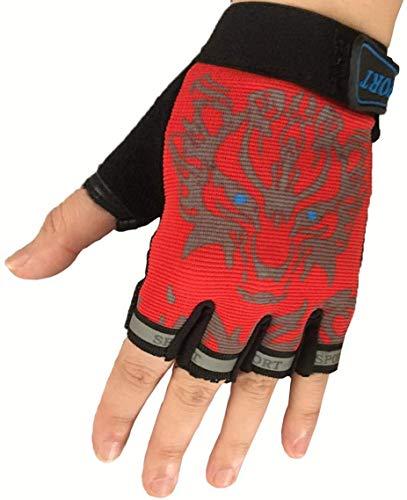 Kinder Fahrradhandschuhe Bike Fingerlose Handschuh für Jungen und Mädchen Radhandschuhe fingerhandschuh für Sport Mountainbike, Kletterei, Skaten, Rennrad