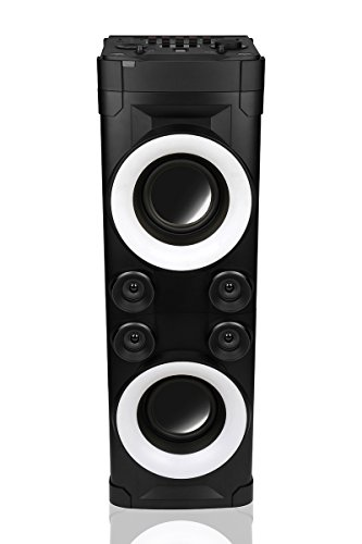 Fantastic Prices! Extra Power Party Speaker Bluetooth Tower Speaker with Party Chain Microphone USB ...