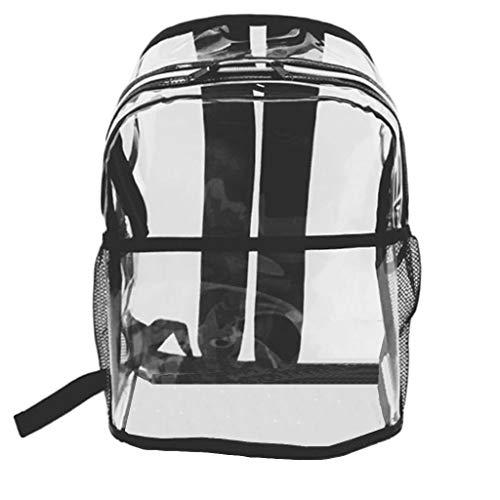 Kaister Damen Umhängetaschen mädchen transparent umhängetasche rucksack schüler schule reisetasche Shopper für Schule Shopping Arbeit Einkauf Schwarz