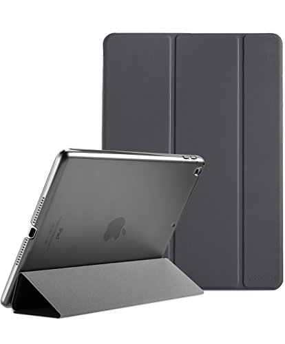 Procase iPad 9.7 Case 2018 iPad 6th Generation Case / 2017 iPad 5th Generation Case - Ultra Slim Lightweight Stand Case with Translucent Frosted Back Smart Cover for Apple iPad 9.7 Inch – Space Gray