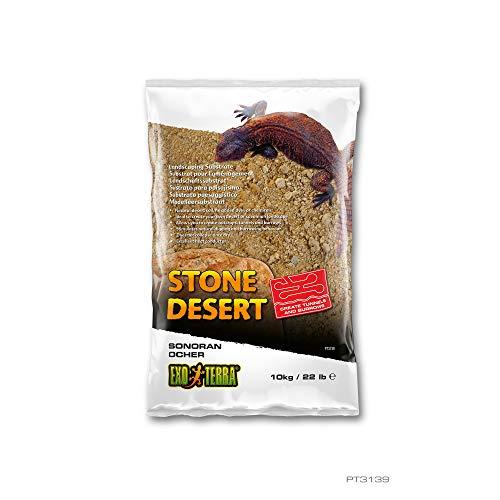 Exo Terra - Stone Desert lehmhaltiger natürlicher Terrarium Bodengrund Ohne Chemikalien (10Kg, Ocher Stone)