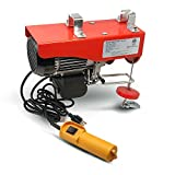 Overhead Electric Crane Hoist w/20FT Wired Control - Certified - Single Phase 110V