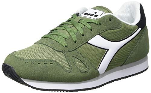 Diadora Simple Run, Zapatillas de Gimnasio Hombre, Green Loden White, 43 EU