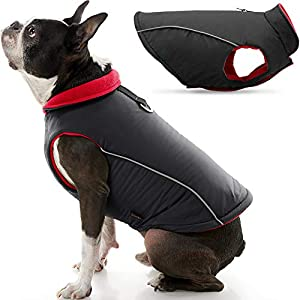 Gooby Sports Dog Vest – Fleece Lined Dog Jacket Coat with D Ring Leash – Reflective Vest Small Dog Sweater, Hook and Loop Closure – Dog Clothes for Small Dogs Girl or Boy for Indoor and Outdoor Use
