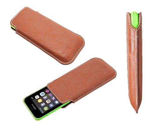caseroxx Business-Line Etui für Nokia 215, Tasche (Business-Line Etui in braun)