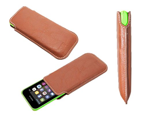 caseroxx Business-Line Etui für Nokia 215, Tasche (Business-Line Etui in braun)