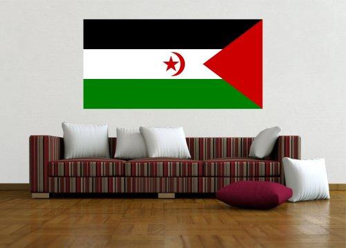 Kiwistar Wandtattoo Sticker Fahne Flagge Aufkleber Westsahara 60 x 30cm