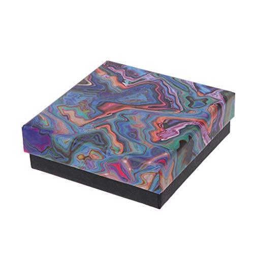 ZJL220 - Caja de regalo para joyas con caja de presentación de anillo de pulsera, cojín de algodón extraíble
