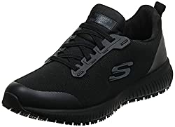 top rated Skechers Squad Sr FoodService Women's Shoes Black Flat Knit 11US 2021