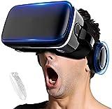 DDRY VR Auriculares de realidad virtual VR Gafas de realidad virtual para videojuegos 3D VR Películas para iPhone 12/Pro/Max/Mini/11/X/Xs/8/7 para teléfonos Samsung y Android, W/4.7-6.8', Z082MK