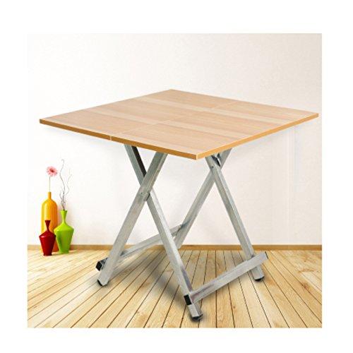 Mesa plegable port¨¢til para El hogar, mesa moderna mini - pl¨¢stica, mesa de computadora cuadrada multicolor elegante, mesa peque?a (60 x 60 x 55 cm) (d)
