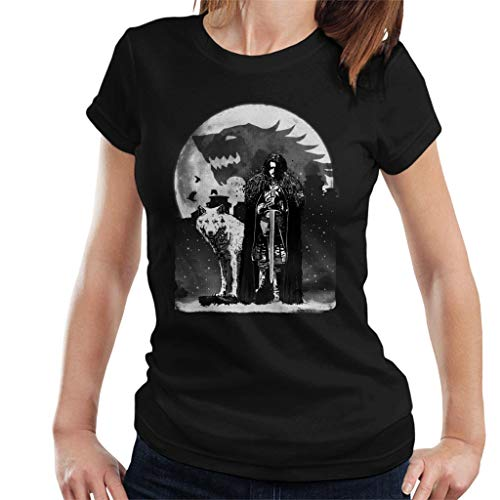 King In The North Jon Snow Wolf Game of Thrones Women's T-Shirt