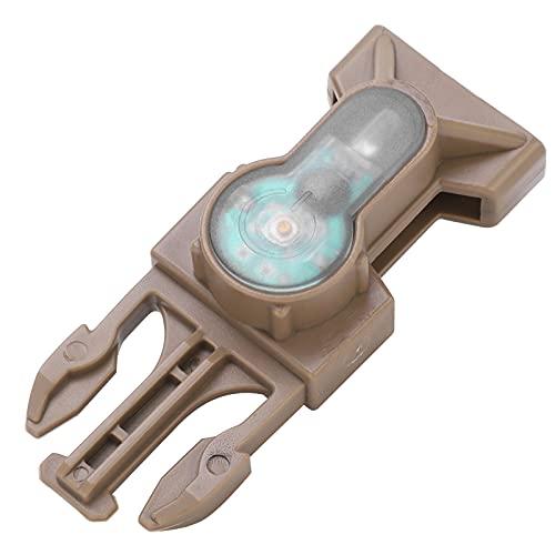 Mini lámpara de Supervivencia, luz de Seguridad portátil de Nailon para Casco con lámpara de señal Impermeable con Hebilla de liberación(Azul)