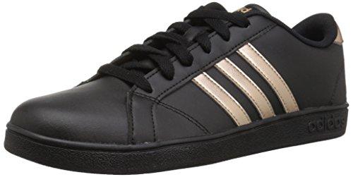 Adidas Mujeres Baseline K Bajos & Medios Cordon Zapatos para Tenis, Black/Copper Metallic/Black, Talla 5.5 M US