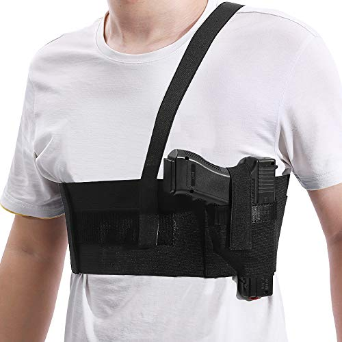 Deep Concealment Shoulder Holster, Belly Band Holster for Concealed Carry, Accmor Elastic Underarm Gun Holster Waistband for Men and Women, Right Hand Draw