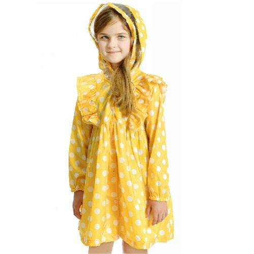 Pois pour petite pluie Wear mignon bébé Veste de pluie Infant imperméable Jaune S 2Y