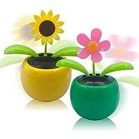 Solar Apfelschaukel Blume, Sonnenenergie erhält Energie, nutzt Sonnenlicht als Strom, keine Batterie und keine Bewässerung, um Müdigkeit beim Fahren zu vermeiden. Klein und exquisit, blockiert es nicht die Sicht des Fahrens, sicheres Fahren. Mit unse...